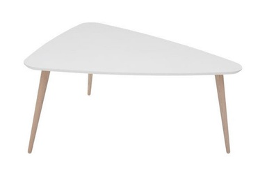 Kafijas galdiņš Black Red White Triango White, 800x650x420 mm