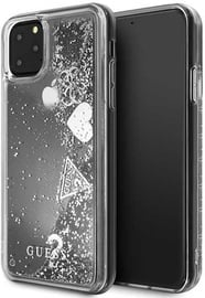 Guess Glitter Hearts Back Case For Apple iPhone 11 Pro Max Silver
