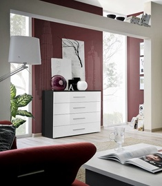 ASM Go Chest Of Drawers Black/White Gloss