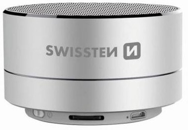 Bezvadu skaļrunis Swissten Metal, sudraba, 3 W