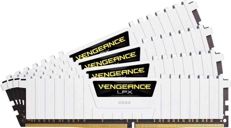 Corsair Vengeance LPX White 64GB 2666MHz CL16 DDR4 KIT OF 4 CMK64GX4M4A2666C16W