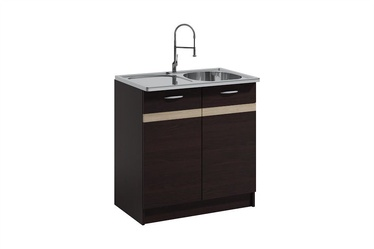 WIPMEB Livia LV-09/D 80Z Kitchen Sink Cabinet Dark Sonoma Oak