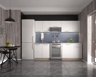 Кухонный гарнитур Halmar Daria, белый/дубовый, 2.4 м