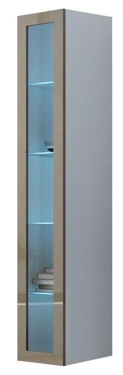 Cama Meble Vigo 180 Glass Case White/Latte Gloss