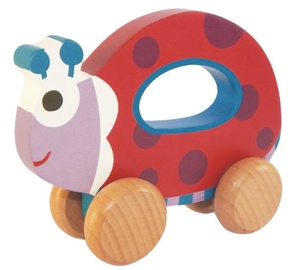 Oops Wooden Hand Running Toy Ladybug