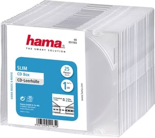 Hama Slim CD Jewel Case 25pcs Transparent