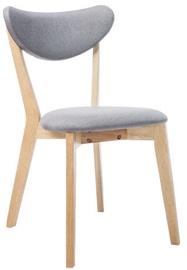 Ēdamistabas krēsls Signal Meble Brando Oak/Grey, 1 gab.