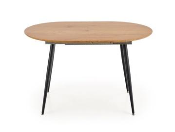Pusdienu galds Halmar Colorado Colorado, melna/pelēka/ozola, 1200 - 1600 mm x 800 mm x 740 mm