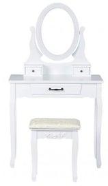Kosmētikas galds GoodHome 3240 White, with mirror