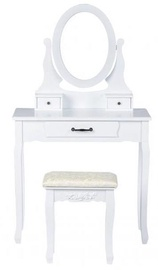 GoodHome Dressing Table w/ Mirror 3240 White