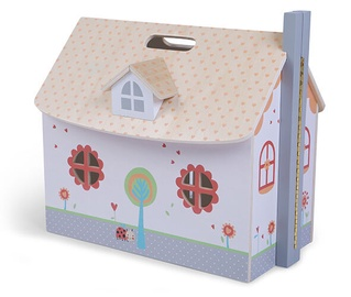 EcoToys Opened Wooden Dollhouse With Furniture 208800