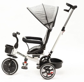 Трехколесный велосипед EcoToys X-174-W, белый/черный