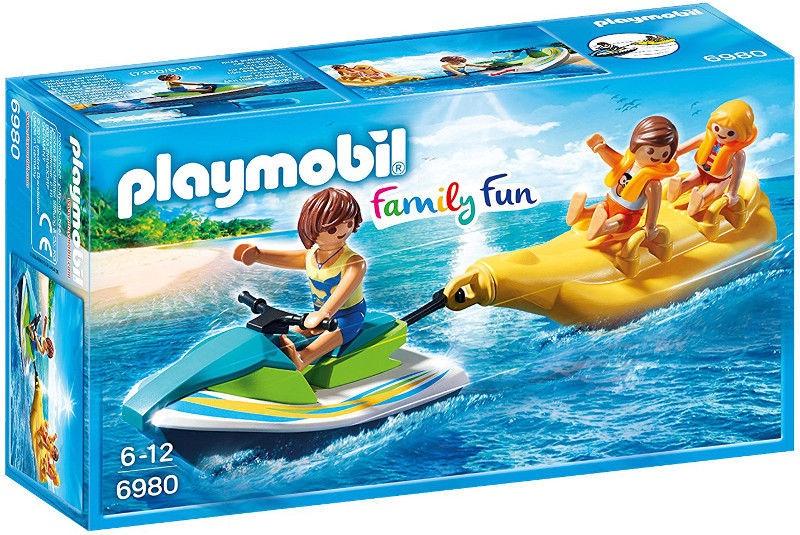 Playmobil Family Fun Personal Watercraft With Banana Boat 6980