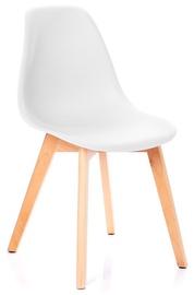 Ēdamistabas krēsls Homede, balta