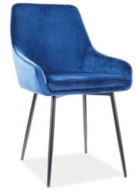 Ēdamistabas krēsls Signal Meble Modern Albi Velvet, zila