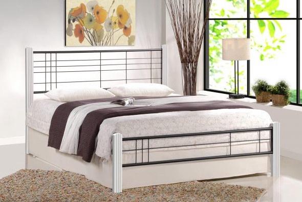 Halmar Viera 120 Bed 125x206cm White/Black