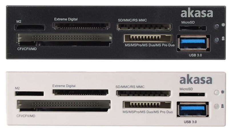 "Akasa Card Reader 3.5"" 6-Port with USB 3.0"