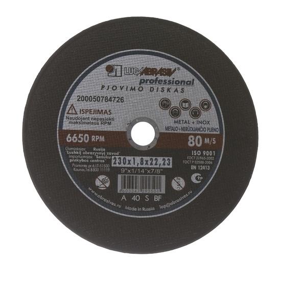 Griezējdisks metālam Luga Abraziv 14A, 230x1,8x22,2mm