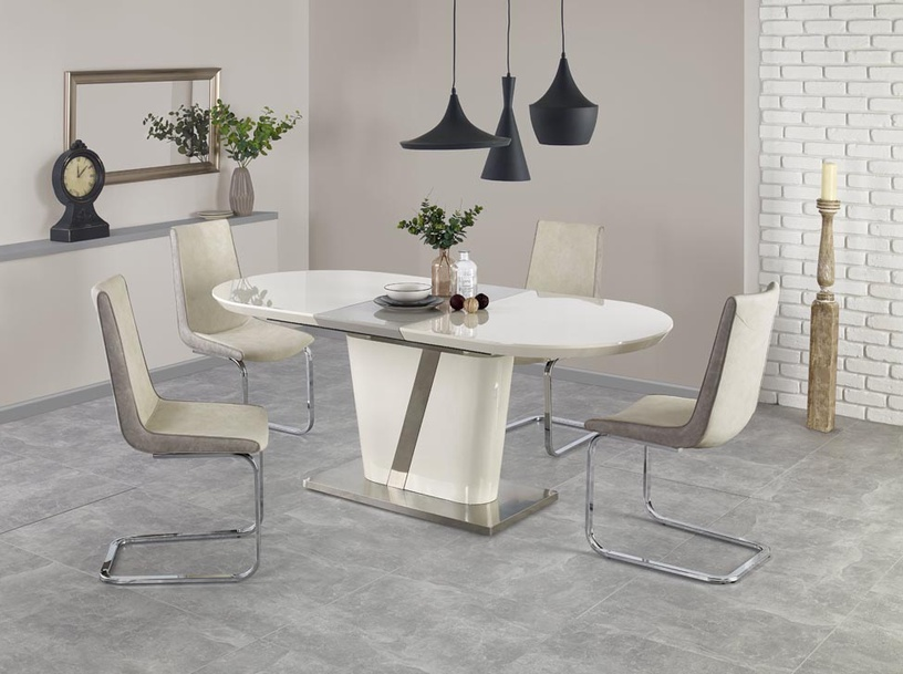 Pusdienu galds Halmar Iberis Cream Gray, 1600x900x760 mm