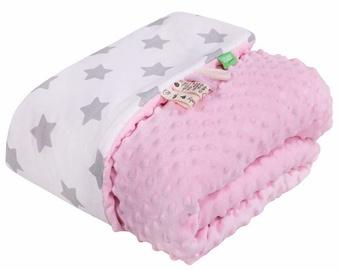Одеяло Lulando Minky Baby Blanket Pink/White With Stars 80x100cm