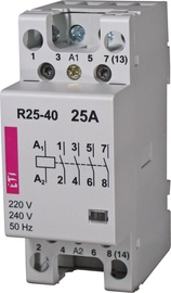Kontaktors ETI Contactor R25-40 25A 4NA 230V 1600W