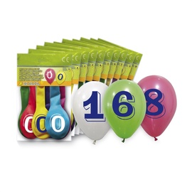 SN Balloons Number ''7'' 8pcs 5260-7