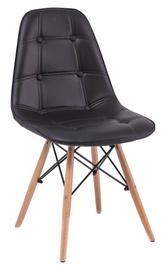 Ēdamistabas krēsls Signal Meble Axel Buk Black, 1 gab.