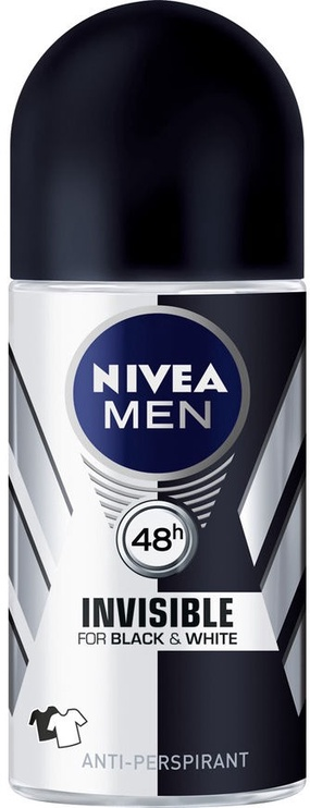 Nivea Men Invisible Black & White Roll On 50ml Antiperspirant