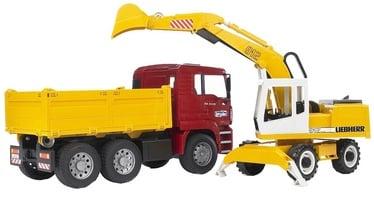 Bruder MAN TGA Construction Truck & Liebherr Excavator 02751