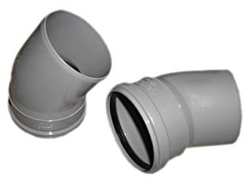 Kanalizācijas caurules 30° līkums Wavin D110mm, PVC