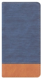 Blun Soft Touch Book Case For Huawei P9 Lite Mini Blue