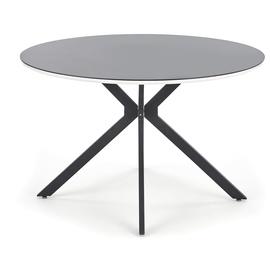 Pusdienu galds Halmar Avelar Black, 1200x1200x760 mm