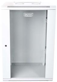 "Digitus Wallmount Cabinet 19"" 18U/600mm Glass Gray"