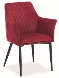 Ēdamistabas krēsls Signal Meble Sergio Velvet Bordeaux, 1 gab.