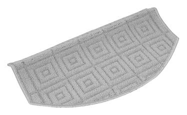 Paklājs pakāpieniem EVITA 29x57cm pelēks