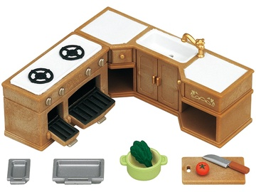 Фигурка-игрушка Epoch Sylvanian Families Kitchen Stove Sink & Counter Set 5222