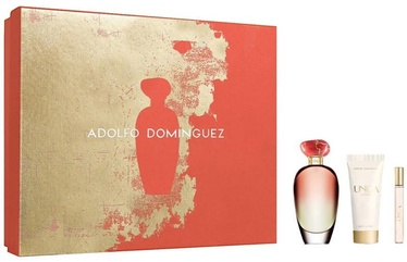 Adolfo Dominguez Unica Coral 100ml EDT + 75ml Body Lotion + 10ml EDT