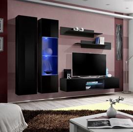 Dzīvojamās istabas mēbeļu komplekts ASM Fly O5 Black