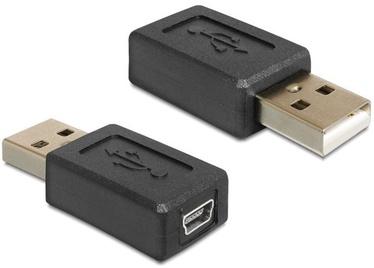 Delock Adapter USB to USB-mini Black