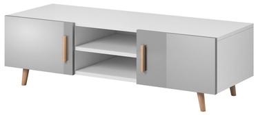 TV galds Vivaldi Meble Sweden 2 White/Grey Gloss, 1400x420x500 mm