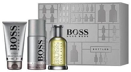 Hugo Boss Bottled 100ml EDT + 100ml Shower Gel + 150ml Deodorant Spray 2019
