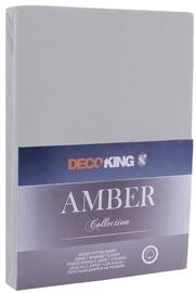 Простыня DecoKing Amber Steel, 200x200 см, на резинке