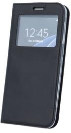 Blun Premium Matt Smart S-View Book Case For Samsung Galaxy A7 A750 Black
