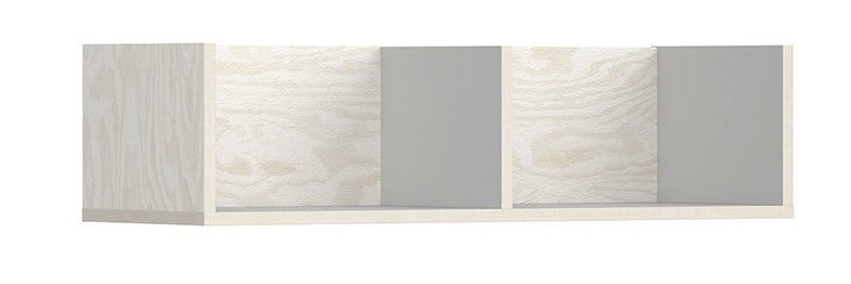 Black Red White Stanford Shelf 81cm White Plywood/Grey