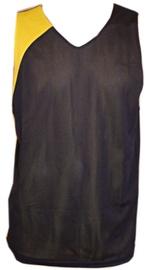 Bars Mens Basketball Shirt Black/Yellow 173 XXL