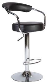 Барный стул Home4you Leon, черный