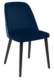 Ēdamistabas krēsls Black Red White Aka, zila/melna