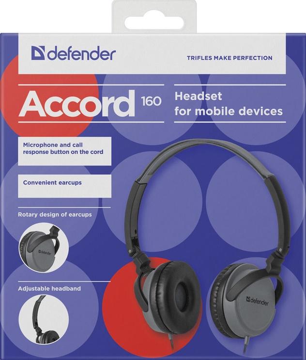 Наушники Defender Accord 160 Black/Grey