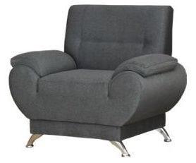 Atzveltnes krēsls Kanclers Livonia Fabric Gray, 92x76x89 cm