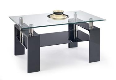 Kafijas galdiņš Halmar Diana H Lacquered Black, 1100x600x550 mm